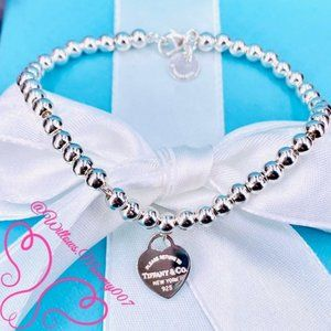 Tiffany & Co. Jewelry - NWOT T&Co. Return to Tiffany Bead Bracelet, 7""